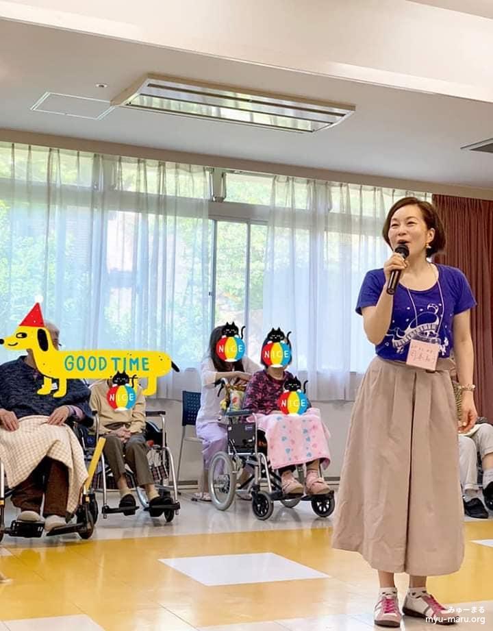 高齢者施設訪問の様子