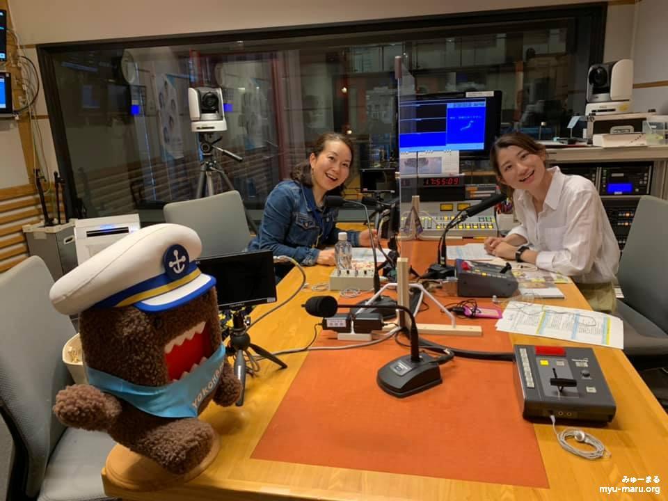 はま★キラ、キャスターの岡田美咲さんとみゅーまる代表岡本和子
