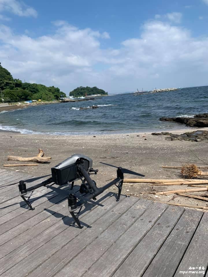10月に初演予定の音楽劇「天国のクジラ」のPV撮影 ドローン